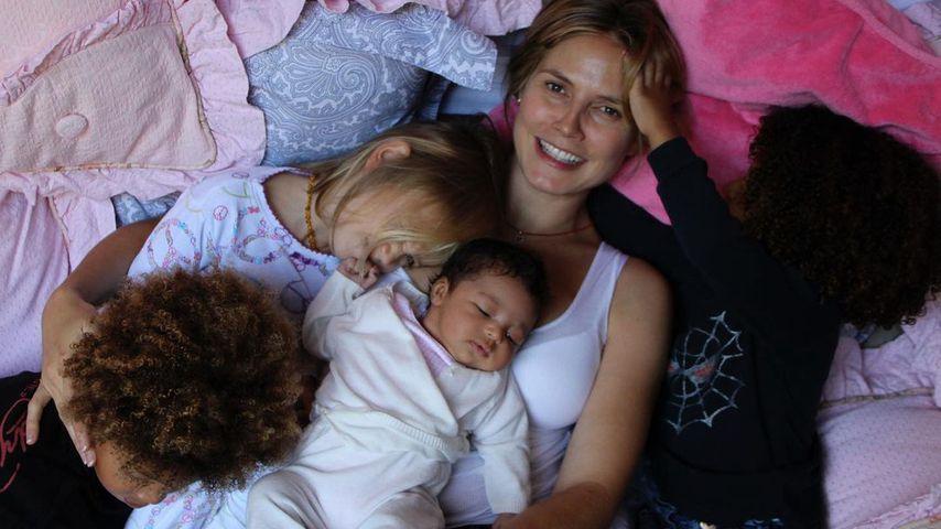 Heidi Klum mit ihren Kindern
