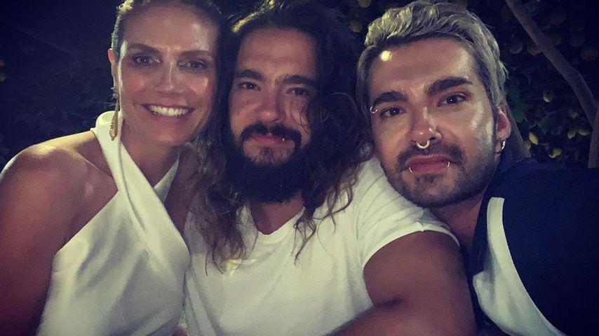Heidi Klum, Tom und Bill Kaulitz im Juli 2019
