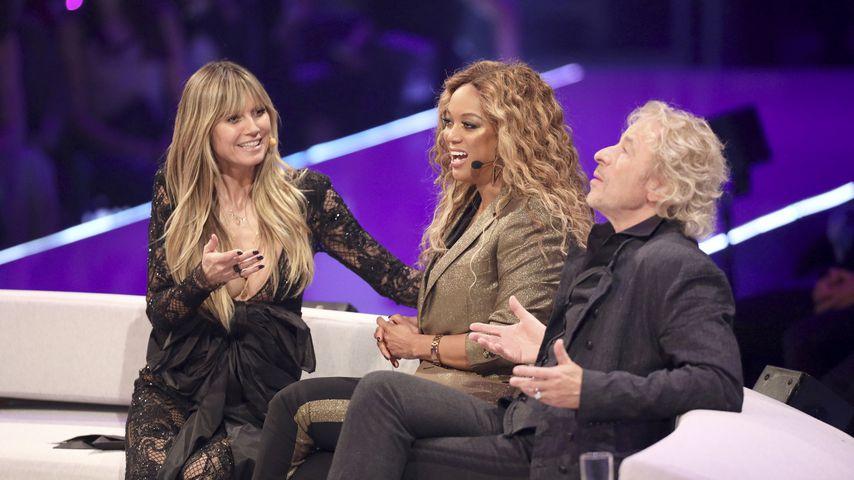 Heidi Klum, Tyra Banks und Thomas Gottschalk im GNTM-Finale 2019