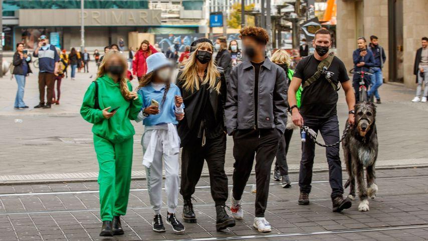 Heidi Klum und ihre Kids in Berlin im Oktober 2020