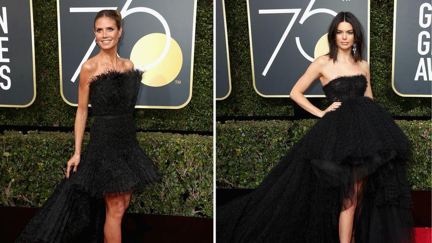 Wer trug's besser? Heidi & Kendall fast im gleichen Kleid!