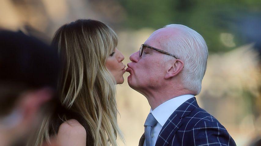 Was sagt da wohl Tom? Hier küsst Heidi Klum einen anderen!