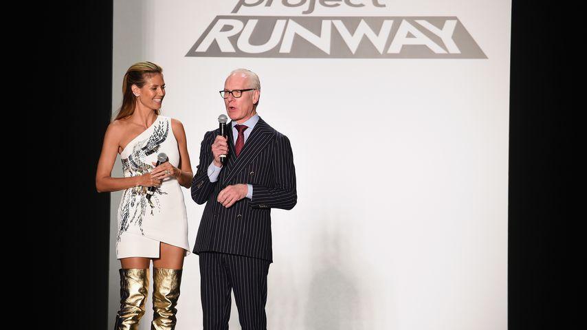"""Heidi Klum und Tim Gunn bei der """"Project Runway""""-Fashionshow während der New York Fashion Week 2016"""