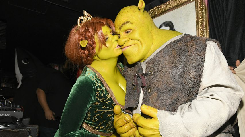 Heidi & Toms Halloween-Transformation in Fiona & Shrek