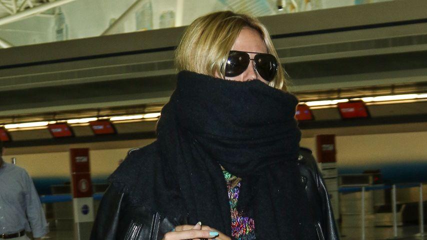 Heidi Klum: Was versteckt dieser Schal im Gesicht?