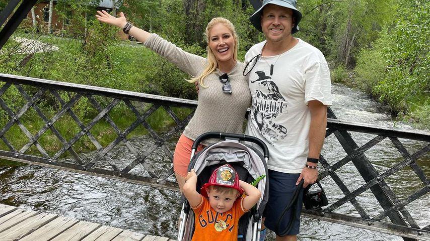 Heidi Montag mit ihrem Sohn Gunner und ihrem Mann Spencer