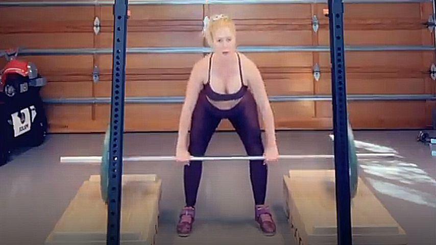 Heidi Montag beim Training