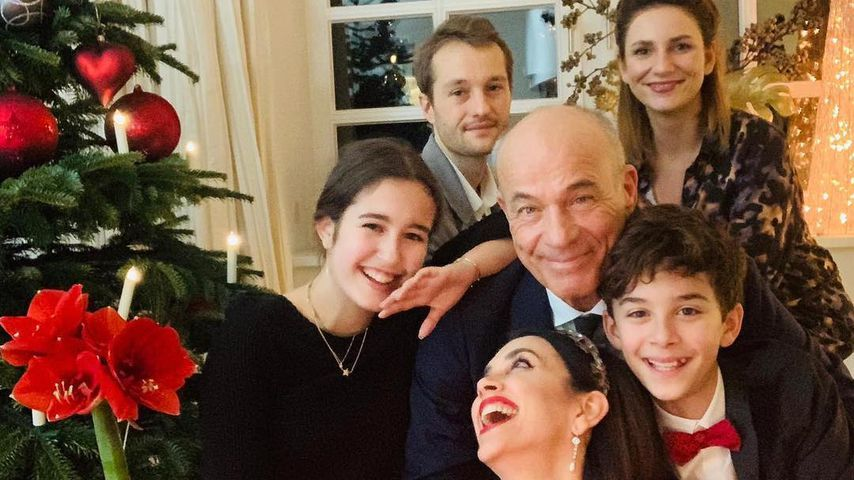 Heiner Lauterbach mit seiner Familie