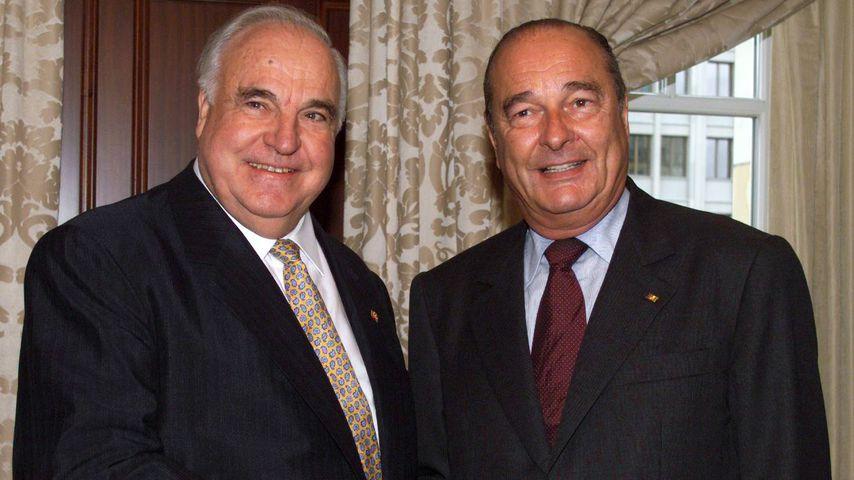 Helmut Kohl und Jacques Chirac, 2002