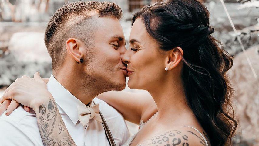 Nach ihrer Hochzeit: Denise und Henning Merten im Ehealltag