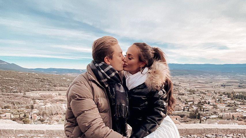 Henrik Stoltenberg und Paulina Ljubas im Januar 2021 in Frankreich