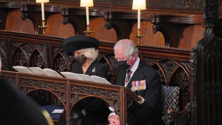 Herzogin Camilla und Prinz Charles bei Prinz Philips Trauergottesdienst