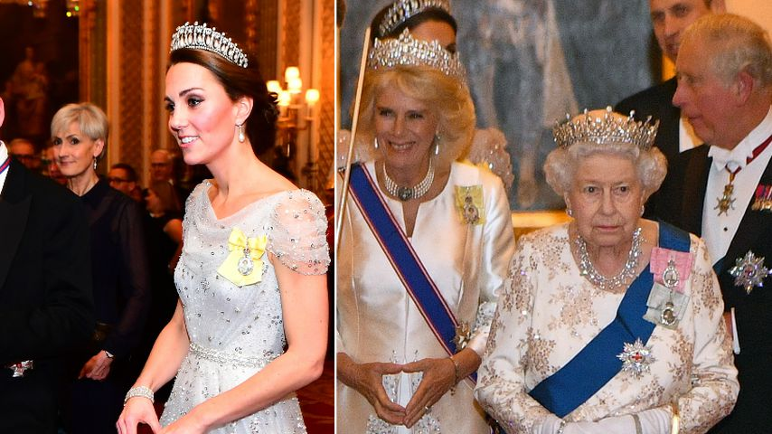 Eisprinzessinnen: Kate, Camilla und Queen im Partner-Look!