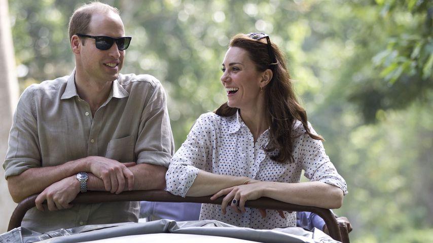 Sind die verliebt! Herzogin Kate & William turteln in Indien
