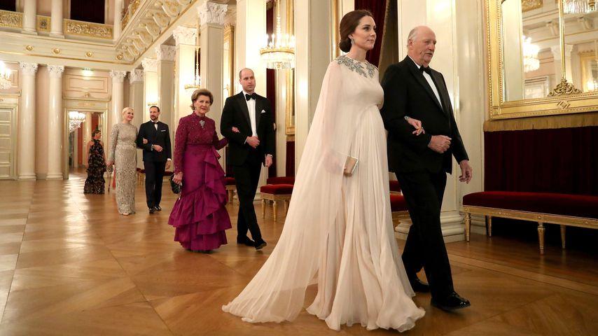 Herzogin Kate und König Harald von Norwegen im Februar 2018