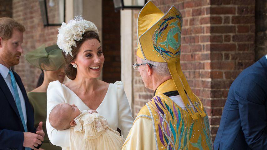 Herzogin Kate mit Prinz Louis und Justin Welby, dem Erzbischof von Caterbury