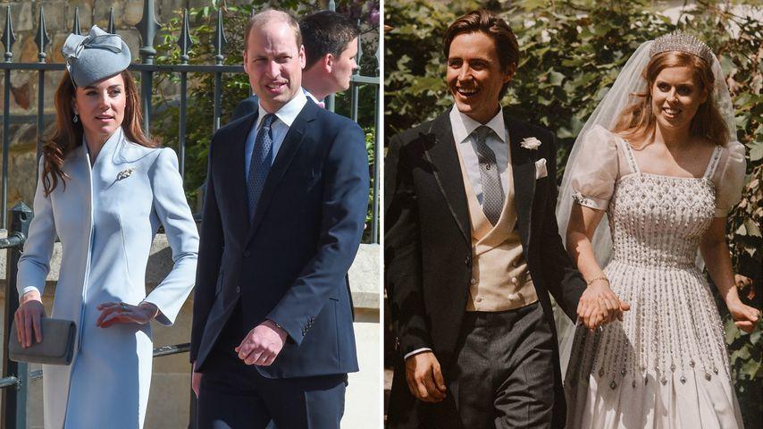 Fehlten William und Kate auf Prinzessin Beatrice' Hochzeit?