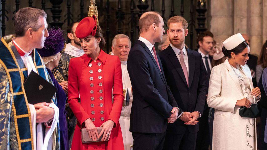 Herzogin Kate, Prinz William, Prinz Harry und Herzogin Meghan 2019 in London