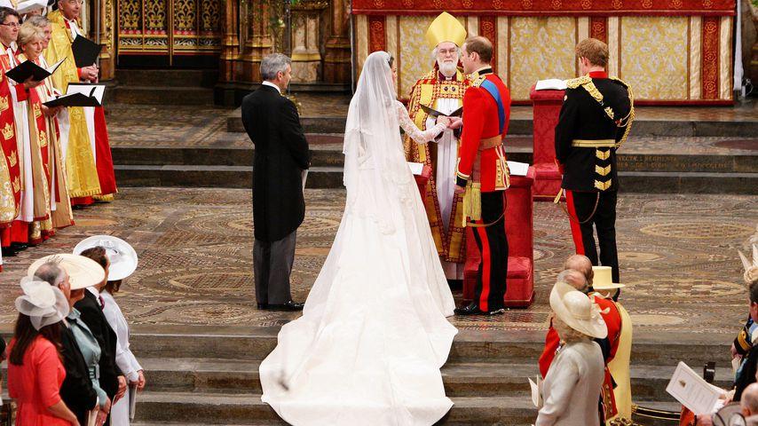 Herzogin Kate, Prinz William und der damalige Erzbischof von Canterbury