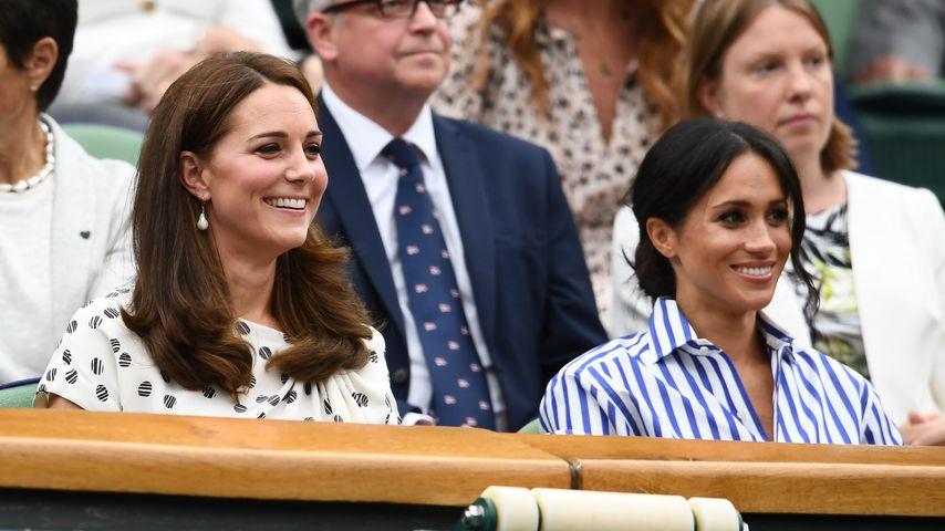 In Wimbledon: Erster Auftritt von Kate & Meghan zu zweit!