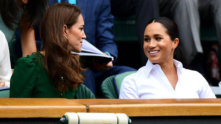 Herzogin Kate und Herzogin Meghan beim Wimbledon-Finale 2019