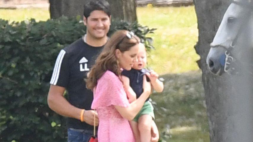 Herzogin Kate und ihr Sohn Prinz Louis
