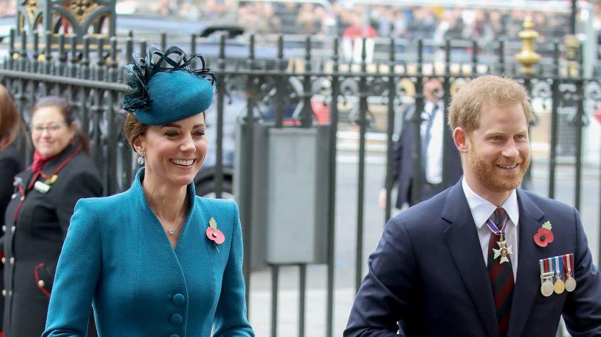 Herzogin Kate und Prinz Harry in London