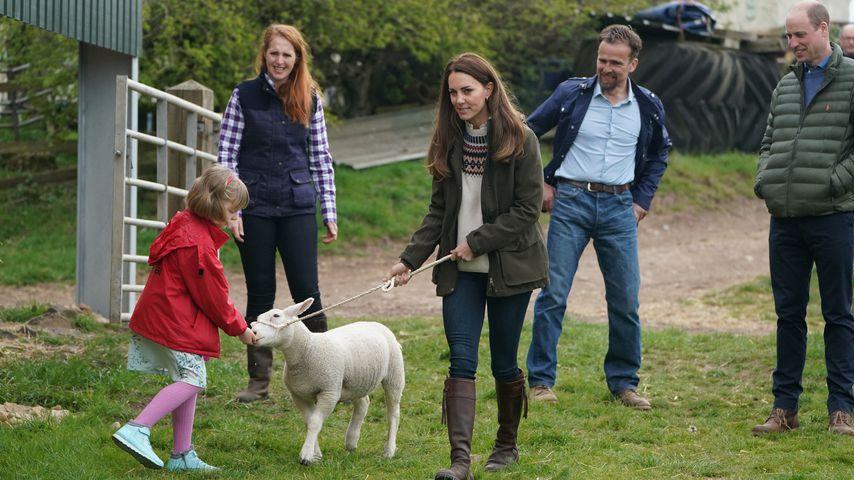 Herzogin Kate und Prinz William auf der Farm Manor im April 2021