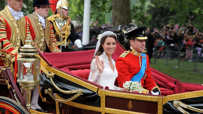 Herzogin Kate und Prinz William nach ihrer Heirat im April 2011