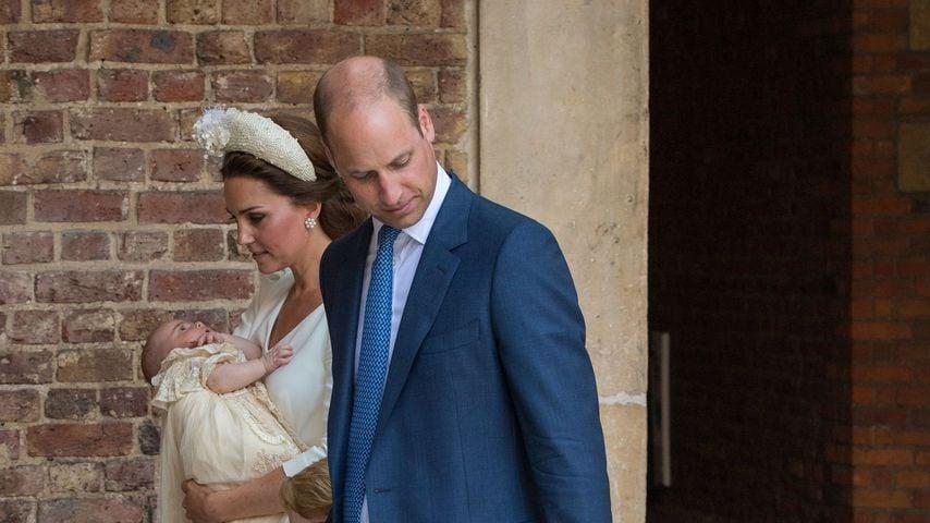 Herzogin Kate und Prinz William mit ihren Kindern Louis, George und Charlotte