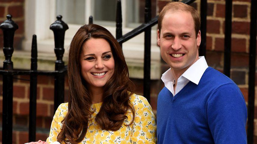 Herzogin Kate und Prinz William mit ihrer Tochter, Prinzessin Charlotte, im Jahr 2015