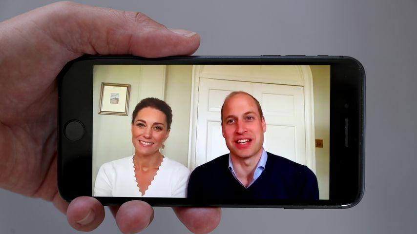 Herzogin Kate und Prinz William per Videobotschaft