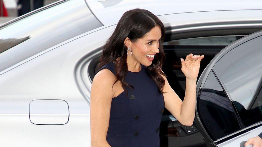 Herzogin Meghan beim Empfang der neuseeländischen Premierministerin Jacinda Ardern
