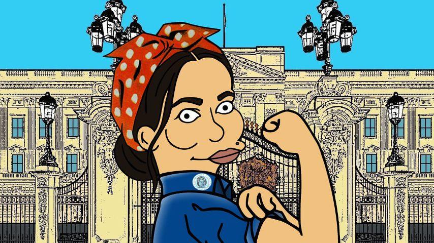 "Herzogin Meghan im ""Simpsons""-Stil als Rosie the Riveter"