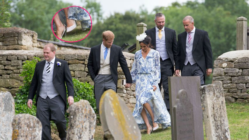 Hoppla! Hier stolpert Harrys Meghan wie eine echte Herzogin