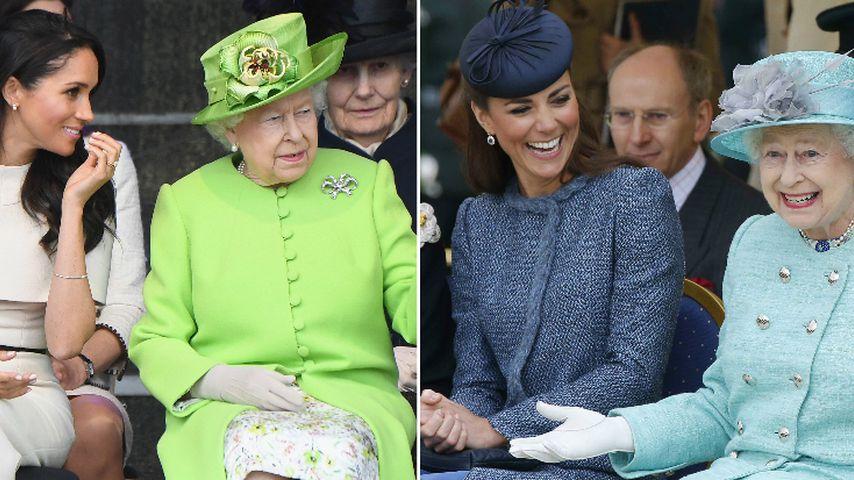 Arme Herzogin Meghan: Mag die Queen Herzogin Kate etwa mehr?