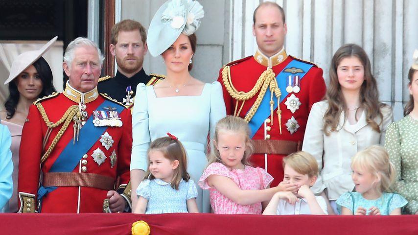 Herzogin Meghan, Prinz Charles, Prinz Harry, Herzogin Kate und Prinz William 2018