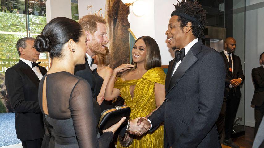 Bei Premiere: Harry & Meghan verzaubern Beyoncé & Jay-Z