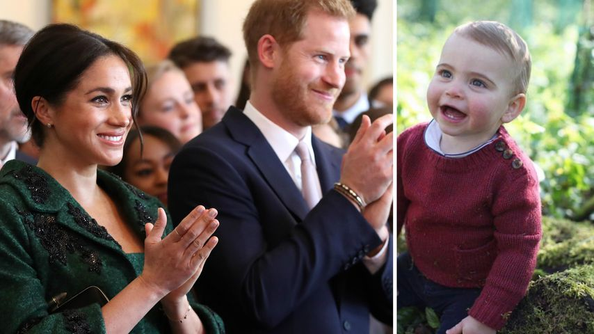 So süß gratulierten Harry & Meghan Prinz Louis zum 1. B-Day!