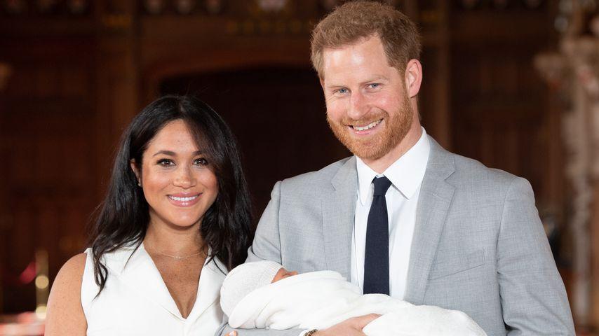 Herzogin Meghan mit Prinz Harry und Baby Archie, Mai 2019