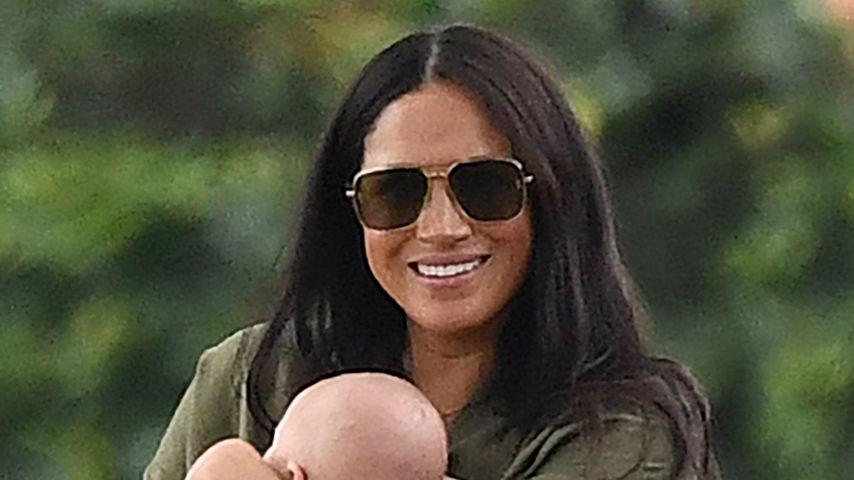 Herzogin Meghan und Archie im Juli 2019 in Binfield