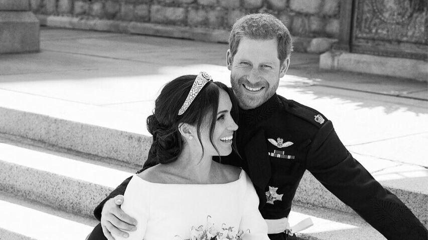 Herzogin Meghan und Prinz Harry an ihrem Hochzeitstag