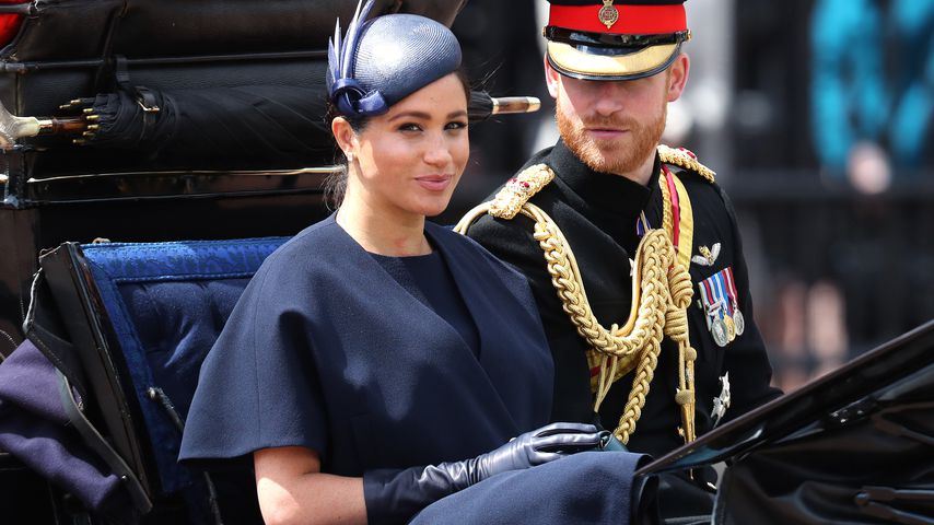 Herzogin Meghan und Prinz Harry bei der Trooping-the-Colour-Parade in London