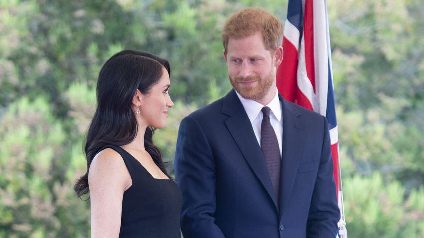 Herzogin Meghan und Prinz Harry bei einem Empfang in Dublin