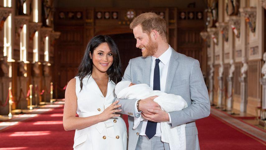 Herzogin Meghan und Prinz Harry mit ihrem Sohn Archie Harrison im Mai 2019