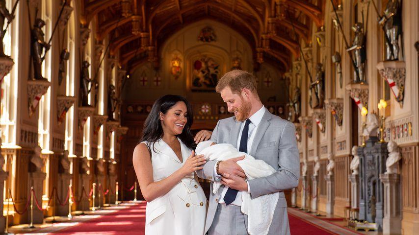 Herzogin Meghan, Prinz Harry und ihr Sohn auf Schloss Windsor
