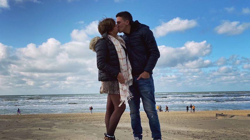 """""""Hier & Jetzt""""-Protagonistin Leona mit ihrem Freund"""