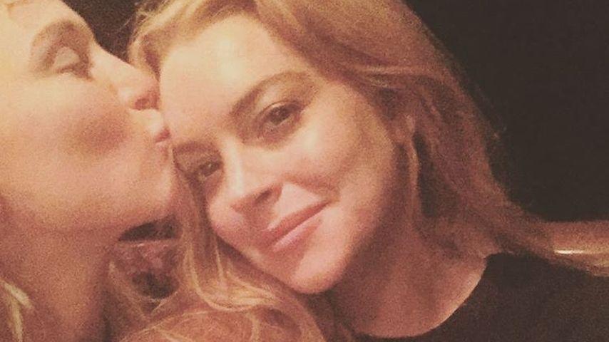 Hofit Golan (l.) und Lindsay Lohan (r.) auf Korsika