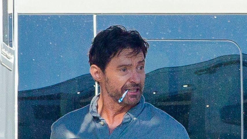 """Schauspieler Hugh Jackman am Set von """"Reminiscence"""" in Louisiana"""