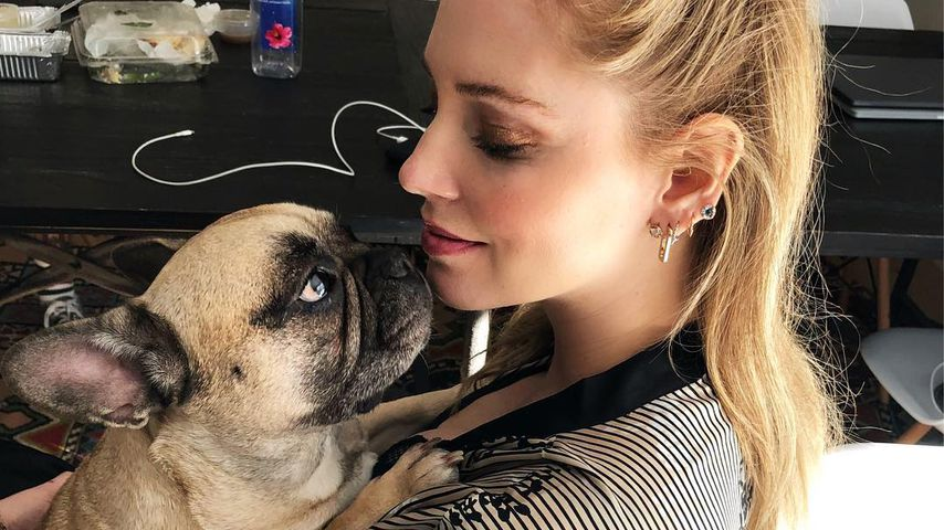 Hund Matilda und Chiara Ferragni